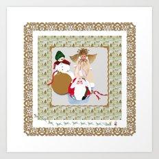 Once upon a time, one Christmas Eve Art Print