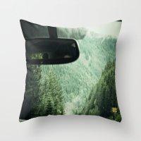 drive Throw Pillows featuring Drive by Hannah Kemp
