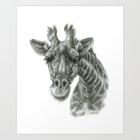 The giraffe G2012-049 Art Print