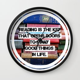 Reading is the key, RBG quote Wall Clock