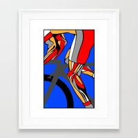 tour de france Framed Art Prints featuring Tour de France Legs by Sassan Filsoof