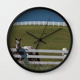 Horse in the Palouse Wall Clock