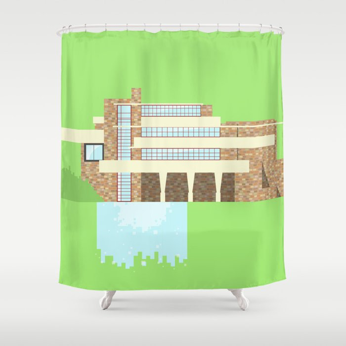Iconic Houses - Fallingwater Shower Curtain