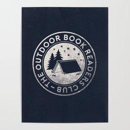 Outdoor Book Readers Club badge Poster