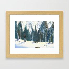 Red Beanie Framed Art Print