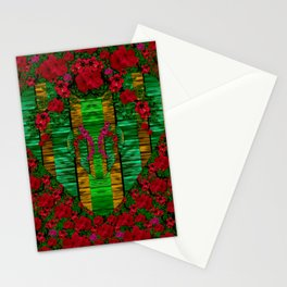 loveable landscape in big flower blooms Stationery Cards