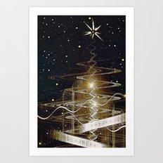 Christmas  Fractal Tree Art Print