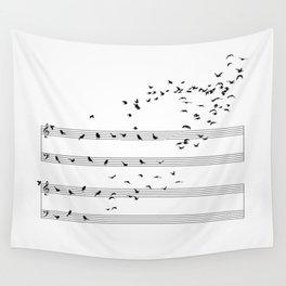 Natural Musical Notes Wall Tapestry