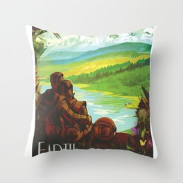 NASA Visions of the Future - Earth: Your Oasis in Space Throw Pillow