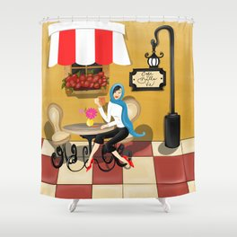 Cafe Belle Vie Nouveau Shower Curtain