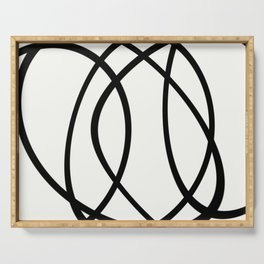 Community - Black and white abstract Serving Tray