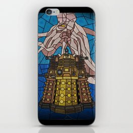 Dalek stained glass iPhone Skin