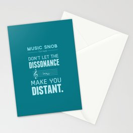 The Dissonance — Music Snob Tip #439 Stationery Cards