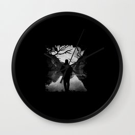 Walk Alone to The River Wall Clock