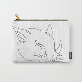 Wild Pig Head Continuous Line Carry-All Pouch