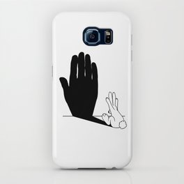 Rabbit Talk to the Hand Shadow iPhone Case