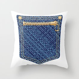 Zipper Pocket Throw Pillow