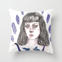 Crystal Nights Throw Pillow