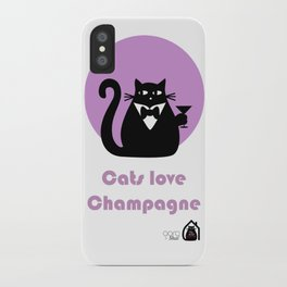 """""""Cats love Champagne"""" by Qora & Shaï iPhone Case"""