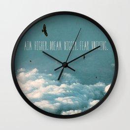 Aim Higher Wall Clock