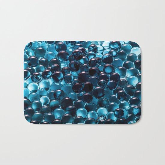 Blue sphere Bath Mat