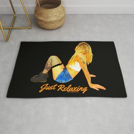 Just Relaxing (Titled Design) Rug