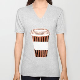Funny gifts for coffee lovers coffee cute funny caffeine quotes espresso latte love addict cafe Unisex V-Neck