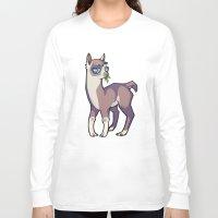 llama Long Sleeve T-shirts featuring Llama by Suzanne Annaars