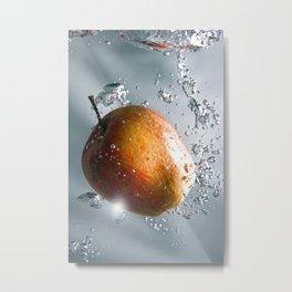 Apple drop Metal Print