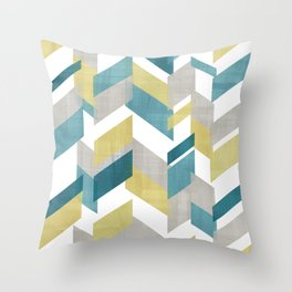 Bright geometrical pattern Throw Pillow