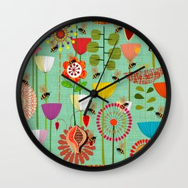 WHERE THE BEES FLY Wall Clock