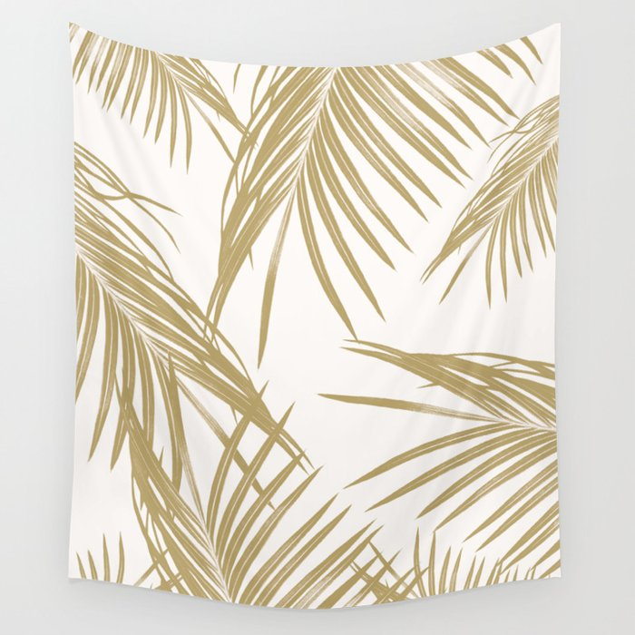 Gold Palm Leaves Dream #1 #tropical #decor #art #society6 Wall Tapestry