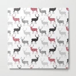 Christmas Pattern Deer Metal Print