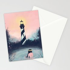 Lighthouse Girl Stationery Cards