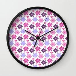 Princess Flowers Wall Clock