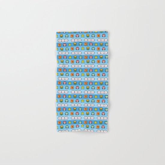 Pixel retro game Hand & Bath Towel