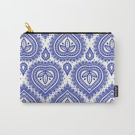 Decorative Blue Carry-All Pouch