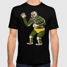 The Original Glowing Skull LARGE Black Mens Fitted Tee