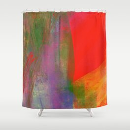 Folie abstraite-wild abstract-carré rouge Shower Curtain