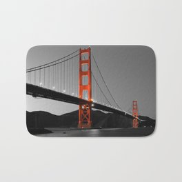 Golden Gate Bridge in Selective Black and White Bath Mat