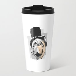 Business Pug Travel Mug