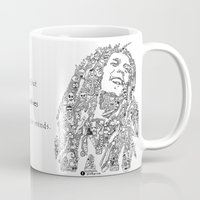 marley Mugs featuring Marley by Ron Goswami