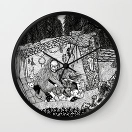 Waiting It Out Wall Clock