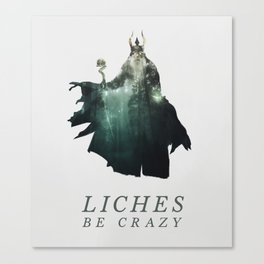 Lich (Typography) Canvas Print