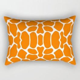 Tangerine Safari Giraffe Rectangular Pillow