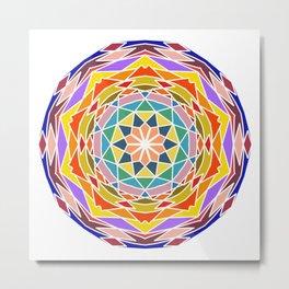 Soothing floral mandala Metal Print