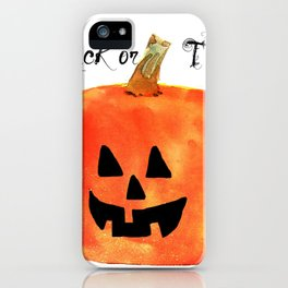 Trick or Treat Jack-O-Lantern, Halloween Pumpkin iPhone Case