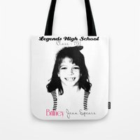 britney spears Tote Bags featuring Britney Spears Baby Legend by franziskooo