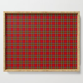 Tartan Classic Style Red and Green Plaid Serving Tray