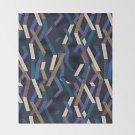 Straight Geometry Ribbons 2 Throw Blanket